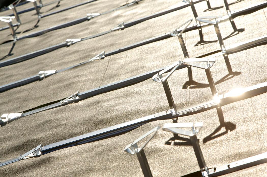 Ausschnitt der Solaranlage | 2013 | Messe Basel | Halle 1.0.